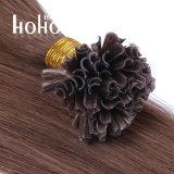 Индийский человеческого волоса прямой волны № 6 коричневого 18 дюймовый П-Наконечник удлинителя волос
