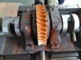 Machine de découpage de bord avant et se plissante alimentante