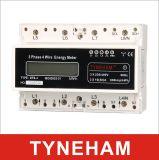 Tipo medidor do LCD do medidor de potência do rial do RUÍDO do fio de Dts-4L três Pahse três de Digitas