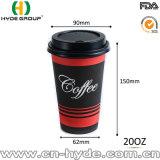 Diseño del café de la capacidad grande taza de papel de 20 onzas para la bebida caliente