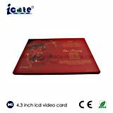 4.3 pulgadas LCD Personalizar hermoso video Brochure-Video tarjeta para boda