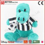 Brinquedo macio do hipopótamo do luxuoso dos animais enchidos da promoção do futebol para miúdos do bebê