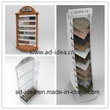 Custom Wing Style Strips Granite Flooring Showroom Display Rack