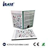 Tarjeta video del LCD de la talla A4 con 4.3 pulgadas para Pharma y el cuidado médico