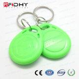 Controle de acesso colorido Rewritable Keyfob do ABS RFID da proximidade