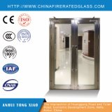 Puertas cortafuego internas blancas con los paneles de cristal