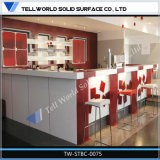 La fabrication de jus blanc acrylique pur comptoir bar comptoir de bar design commercial