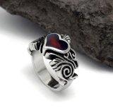 Heart Resin Women Ring Bijoux en inox Style simple