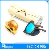 Occhiali da sole di bambù polarizzati pieghevoli di nuovo stile dell'annata mini con il caso