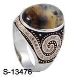 형식 보석 925 은 반지 자연적인 돌