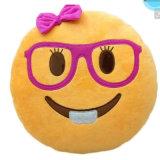 Van de Katoenen van pp het Hoofdkussen van Smilely Emoji van de Glazen het Vullen Slijtage