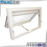 Guichet en verre en aluminium blanc enduit de tente de tissu pour rideaux de poudre double