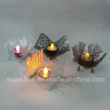 Funciona con pilas decorativa LED Navidad Luminary Pilar Artificial sin Flama candelitas