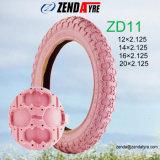 """"""" rosafarbene Farbe 12 scherzt Fahrrad-Luft-Reifen 12× 2.125"""