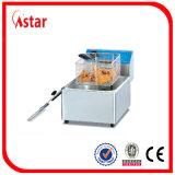friggitrice da vendere, friggitrice elettrica di industria 6L del cestino del serbatoio 2 dell'aster 2 con il filtro caldo nel Brasile Malesia Filippine