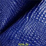 2017 Fashion Crystal Crocodile Design Faux PU Leather para sacos