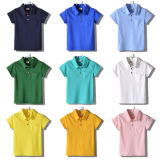 Chemise de polo Short-Sleeved de filles multicolores