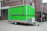 Caminhão do alimento da cor verde para a venda EUA