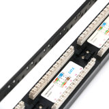 Wonterm 24-Port CAT6 Rj-45 Painel de Patch não blindado UTP 19 polegadas Categoria 5e Network Wall Mount Surface Patch Panels