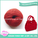 Slub Laine Rouge Coton Acrylique Polyester Yarn pour Knitting Bag