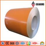 Bobine en aluminium Couleur-Enduite matérielle externe de panneaux de revêtement de mur de première Marque-Ideabond