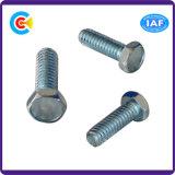 Kohlenstoff-Steel/4.8/8.8/10.9 galvanisierte Hexagon-Flansch-Schrauben für Gebäude