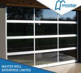 ヨーロッパ様式の緩和されたガラスのドアが付いている普及した曇らされたガラスのガレージのドア