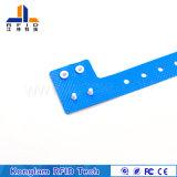 Kundenspezifischer blauer Kurbelgehäuse-BelüftungRFID intelligenter Wristband für Eilzustellung