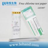 25-500mg/L liberan el papel de prueba de la clorina (LH1007)