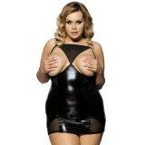 L'OEM populaire de marque de vente chaude différente de taille personnalisé par noir entretient le Babydoll confortable de cuir de sexe