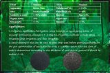 Água - extrato solúvel da alga no fertilizante orgânico
