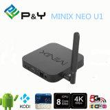 지능적인 펌웨어 Allwinner 살아있는 텔레비젼 Apk는 IPTV HD IPTV Minix 신 U1 4k S905 2g 16g 쿼드 코어 Kodi16.0 인조 인간 5.1를 지원했다