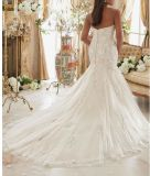 Robes de mariage nuptiales de taille de train positif de sirène Ctd2015