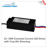 32 ~ 36W conducteur courant constant LED avec Triac / Elv Dimming