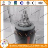 Câble d'alimentation moyen en aluminium 15kv de tension d'UL