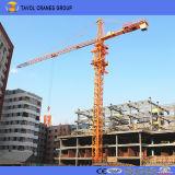 6t Construcción hidráulica construcción legítima la erección de 50m del pescante Cabeza de martillo Topkit Grúa torre
