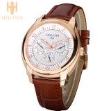 大きいダイヤルの防水自動デジタル水晶腕時計の人のスチール・ケースの服のスポーツ簡単な様式の腕時計