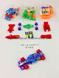 Deslizamiento y coche de carreras de la Asamblea de bricolaje en la promoción de juguetes para niños