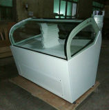 Réfrigérateur crême de compteur d'étalage de congélateur de excavation de Gelato/crême glacée de Popsicle/glacée (QV-BB-8)