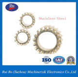 ISO 강철 세탁기 DIN6798A 외부에 의하여 톱니 모양으로 하는 자물쇠 봄 세탁기