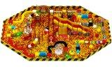 كبيرة كرة بركة مع منزلقة كبيرة لعب ليّنة لأنّ أطفال [6621ب]