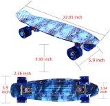 Skate retro completo de Longboard do cruzador da placa estrelado do patim do teste padrão