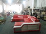 Sofà moderno dell'angolo del cuoio genuino per la mobilia del sofà della stanza di Liviing