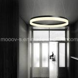 Moderno simples pendurado decorativo ciclo anel de acrílico LED pingente de luz