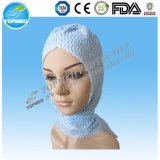 El casquillo no tejido disponible simple o doble del clip cosido plisó