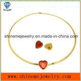 Nagel de Van uitstekende kwaliteit van het Oor van de Gelijke van de Halsband van het Roestvrij staal van de Manier van de Juwelen van Shineme (ERS6888)