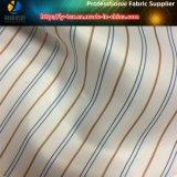 Tela teñida hilado del poliester de la raya de la guarnición de la funda para el juego/la ropa (S104.107)