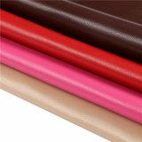 Couro artificial do falso de Microfiber da grão dos carneiros para sapatas, sacos, vestuário, decoração (HS-Y80)