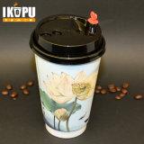 Бумажный стаканчик кофейной чашки устранимый горячий с крышками для горячий выпивать