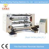 Escritura de la etiqueta de papel auta-adhesivo no tejida que raja y máquina el rebobinar